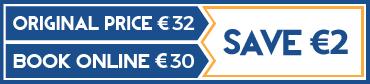 Book online on FREETOUR.com and save 2 euros